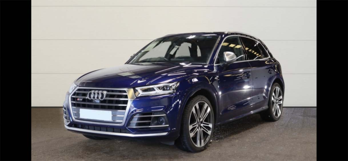 Metallic Blue Audi